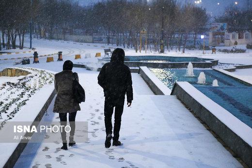 بارش برف در اردبیل
