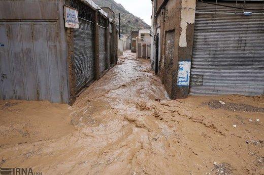 سیل در محله سعدیه شیراز