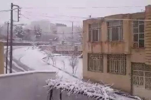 مونوپاد | بارش برف در خوانسار در ششمین روز سال نو