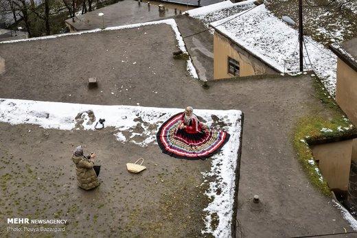 بارش برف در ماسوله