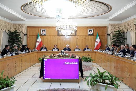 آمار مهم روحانی در جلسه هیات دولت، تذکر به هواشناسی و دستور تشکیل یک کمیته ملی