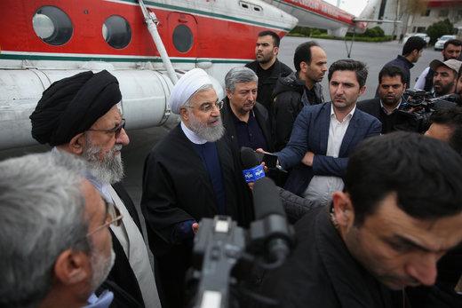 روحانی پس از بازدید از مناطق سیلزده: خواستههای مردم بهحق و بهجاست
