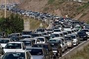 ترافیک در جاده کرج-چالوس سنگین است