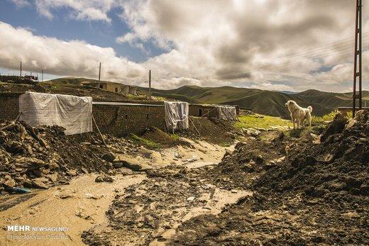 خسارات سیل در بخش جرگلان استان خراسان شمالی