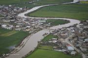 تصاویر هوایی از گمیشان سیلزده