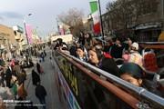 تصاویر | اولین اتوبوس ویژه گردشگری ایران در خیابانهای زنجان