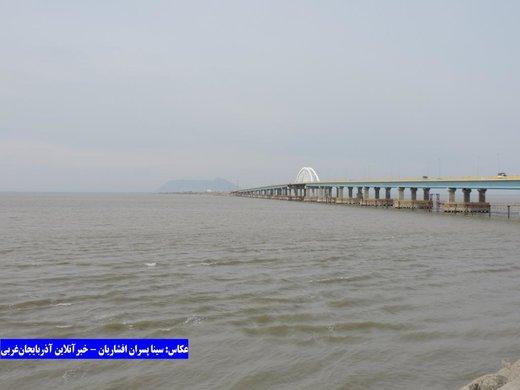 گرمای تابستان، تراز دریاچه ارومیه را ۵۴ سانتیمتر کاهش داد