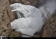 دریچههای سد دز کاملا باز شد/ ورود ۱۸۰۰ متر مکعب آب بر ثانیه به کرخه