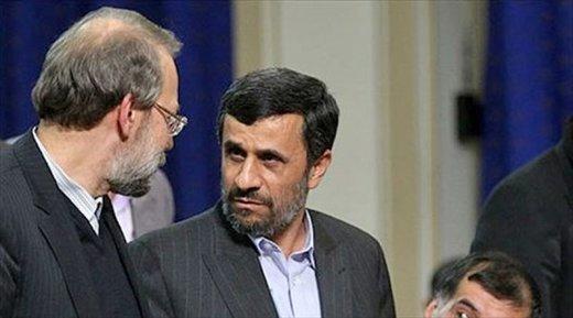 دفتر لاریجانی: ادعای احمدینژاد درباره رئیس مجلس کذب است