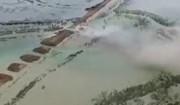 فیلم هوایی از انفجار دژ مرزی خوزستان توسط سپاه