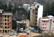 فیلم   جاری شدن سیلاب در شمال تهران