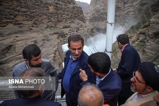 بازدید معاون اول رییس جمهور از سد دز در استان خوزستان