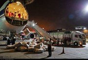تصاویر | ارسال شبانه ۵۰ تن کالا به لرستان و خوزستان توسط هلال احمر