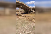 فیلم | تخریب پل سد ساوه در سیل