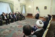 تصاویر | دیدار جمعی از وزراء و مسئولان با رئیس جمهوری