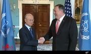 دیدار و مذاکره آمانو و پمپئو در واشنگتن