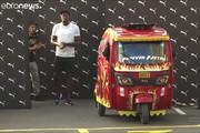 فیلم | مسابقه قهرمان دوی جهان با تاکسی موتوری