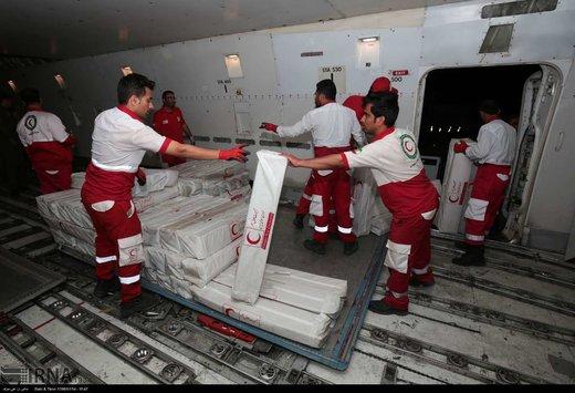 ارسال شبانه 50 تن کالا به لرستان و خوزستان توسط هلال احمر