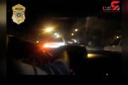 فیلم   تعقیب و گریز شبانه پلیس و راننده پراید در خیابانهای تهران