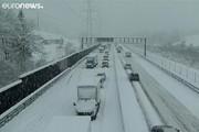 فیلم | برف سنگین بهاری در سوئیس