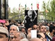 عکس | علی نصیریان و وزیر ارشاد در مراسم تشییع جمشید مشایخی