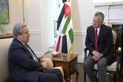 گوترش و شاه اردن بر تشکیل کشور فلسطین تاکید کردند
