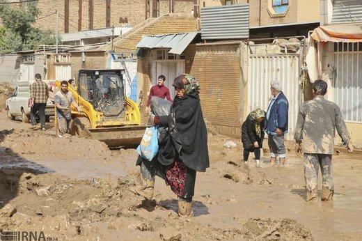 سیل در شهرستان پلدختر و روستای چم مهر