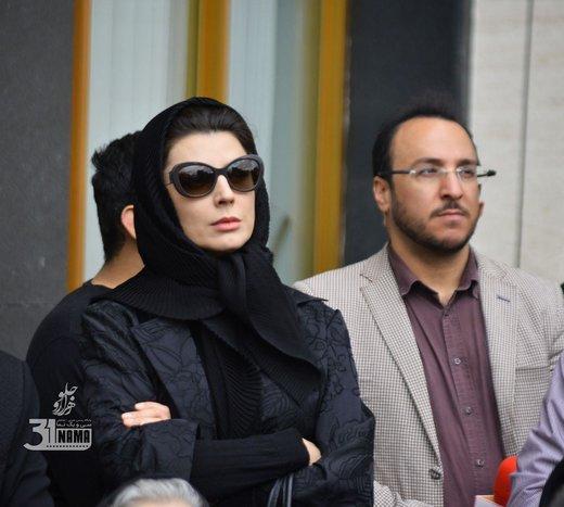 لیلا حاتمی در مراسم وداع با جمشید مشایخی