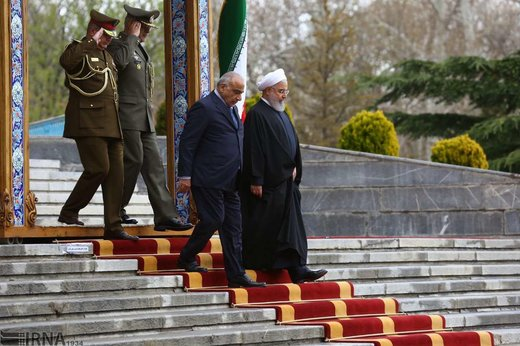 استقبال رسمی رئیسجمهوری ایران از نخستوزیر عراق