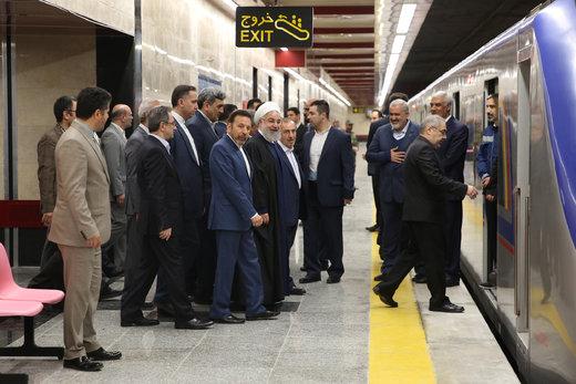 افتتاح خط شش مترو تهران با حضور رئیسجمهور