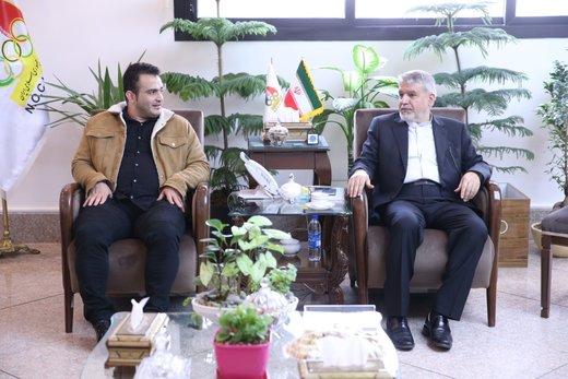 دیدار سهراب ورزش ایران با صالحیامیری