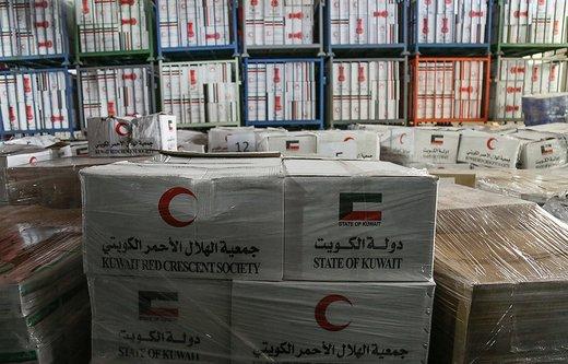 تحویل محموله ارسالی هلال احمر کویت برای سیلزدگان