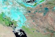 گزارش ناسا از بارشهای ایران