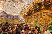 تصاویر | حال و هوای بارگاه حضرت ابوالفضل(ع) در شب میلادشان