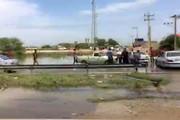 فیلم | مسیر رفت جاده اهواز-اندیمشک زیر آب
