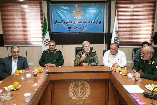 وزیر دفاع: امکانات را در خوزستان مستقر کردهایم تا مشکلات به حداقل برسد