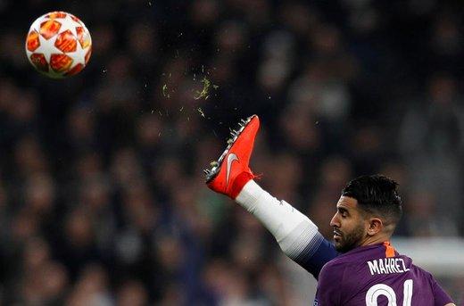 عملکرد ریاض محرز، بازیکن فوتبال منچستر سیتی، در برابر تیم  تاتنهام هاتسپر در  مرحله یک چهارم نهایی لیگ قهرمانان اروپادر لندن