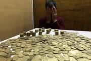 فیلم   کشف ۱۳۰۰ سکه عتیقه از مسافران متروی تهران