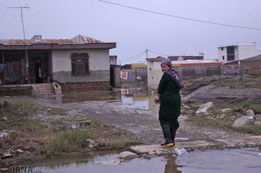 آثار ناشی از آب پس از سیلاب در شهرستانهای آققلا و گمیشان