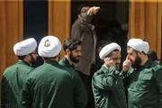 تصاویر | حمایت از سپاه به سبک طلاب حوزه علمیه