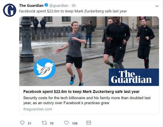 هزینه ۲۲.۶ میلیون دلاری خرج امنیت مدیر فیسبوک و خانوادهاش