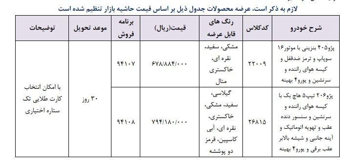 فروش فوری ایران خودرو روز 25 فروردین