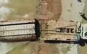 فیلم | تلاش ارتش برای ساخت پل شناور در اهواز