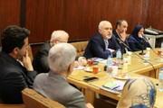 ظریف با استادان دانشکده حقوق و علوم سیاسی دانشگاه تهران دیدار کرد/ عکس
