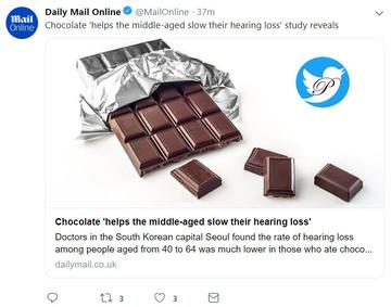 شکلاتخورها کمتر ناشنوا میشوند