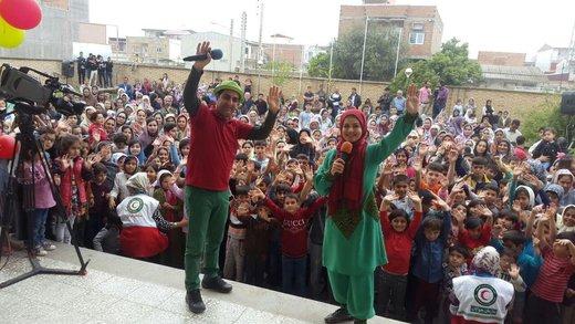 مجریان برنامه کودک در مناطق سیلزده خوزستان