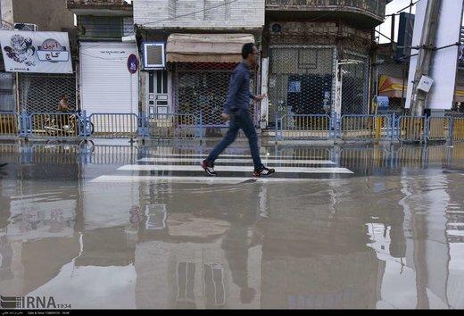 جاری شدن سیلاب در زابل
