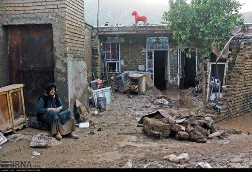 خسارت ۴۳ میلیارد تومانی سیلاب به شهر اشترینان