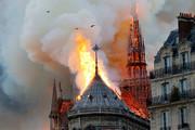 فیلم | آتشسوزی مهیب در کلیسای نوتردام پاریس