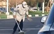 فیلم | حرکت پسندیده پلیس راهنمایی و رانندگی تبریز بعد از تصادف